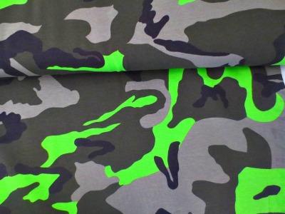 05m Jersey Camouflage khaki taupe neongrün