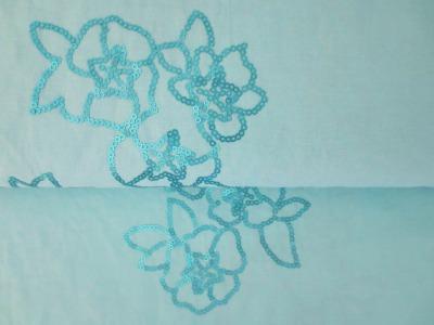 05m BW mit Paillettenblüte türkis