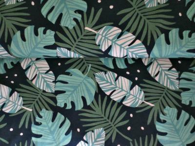 05m Jersey Blätter Philodendron Farn dunkelblau