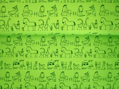 05m Jersey Bauernhoftiere in der Reihe