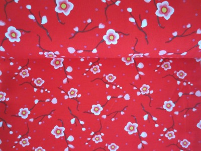 05m Jersey Moderne Kirschblüte rot rosa