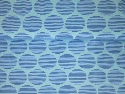 05m Jersey JOY Gestrichelte Kreise hellblau