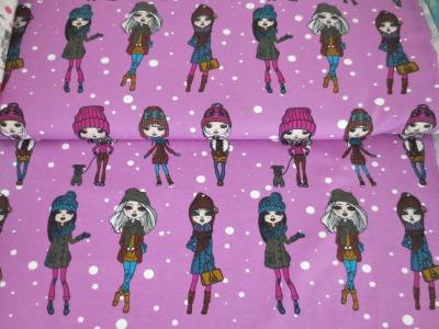 05m Jersey Modemächen im Schnee lila