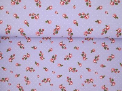 05m Jersey Kleine Röschen Vintage flieder