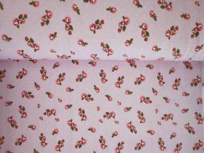05m Jersey Kleine Röschen Vintage rosa