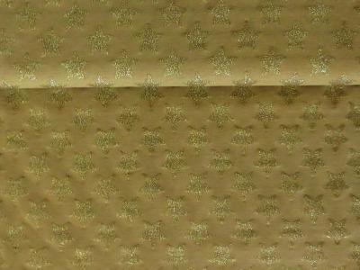 05m Jersey Große Glitzersterne gold Goldglitzer