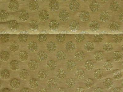 05m Jersey Große Glitzerpunkte gold Goldglitzer