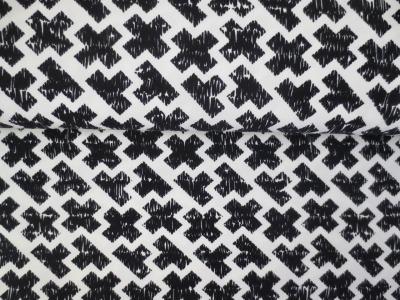 05m Jersey Kreuze gekritzelt weiß schwarz