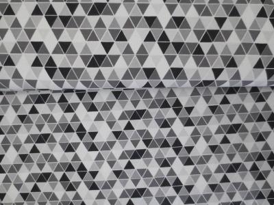 05m Jersey Kleine Dreiecke grau schwarz