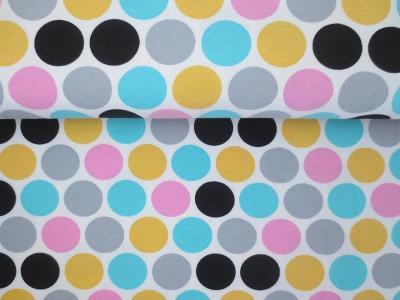 05m Jersey Big Dots Punkte weiß