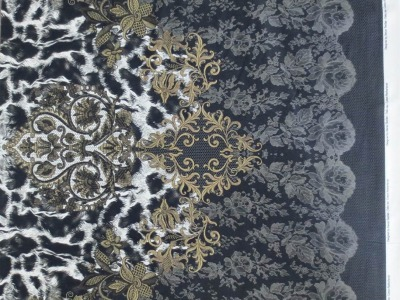 05m Jersey Ornament Spitze Tierfell schwarz