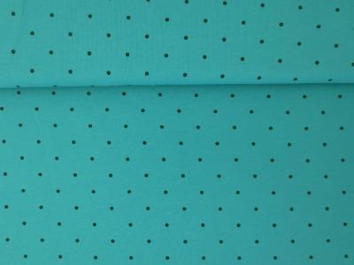 Meter Jersey Dots Kleine Punkte türkis