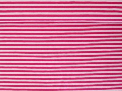 05m Jersey Ringel Streifen rosa magenta