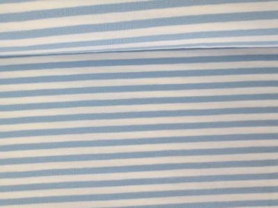 05m Jersey Ringel Streifen hellblau weiß