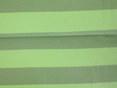 05m Jersey Blockstreifen Breite Streifen hellgrün