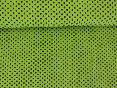 Meter Jersey Dots Kleine Punkte hellgrün