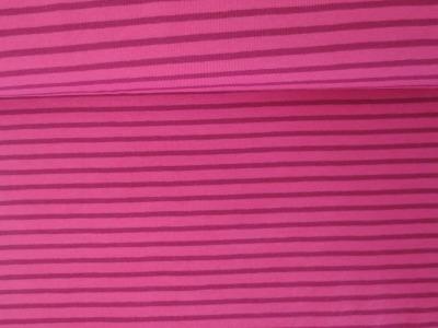 05m Jersey Ringel Streifen pink beere