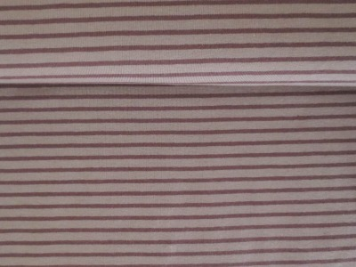 05m Jersey Ringel Streifen nougat braun