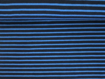 05m Jersey Ringel Streifen dunkelblau mittelblau