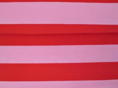 05m Jersey Blockstreifen Breite Streifen rot
