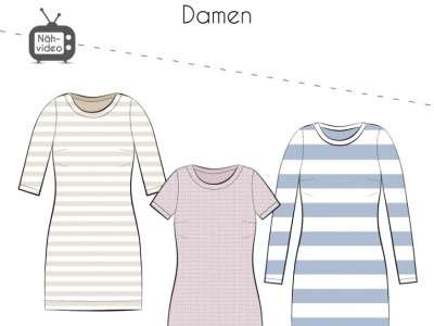 Papierschnittmuster Fadenkäfer Kleid Isabell Gr 32-58