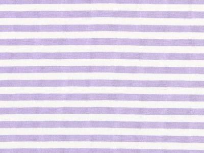 05m Jersey Ringel Streifen flieder weiß