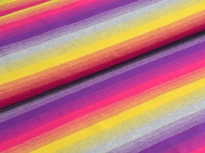 05m Jersey Streifen lila pink gelb