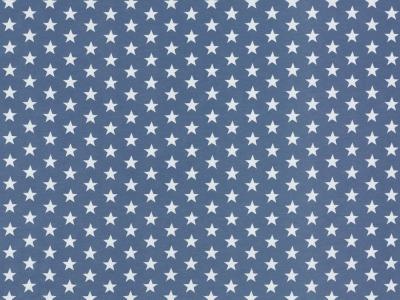 05m Jersey jerseystar Sterne jeansblau weiß
