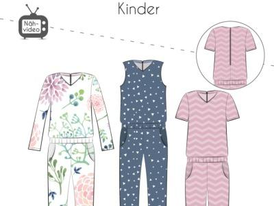 Papierschnittmuster Fadenkäfer Shirt Jumper Kids Gr74-164