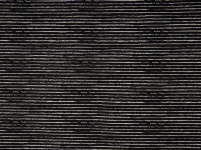 05m BW Unregelmäßige Streifen schwarz weiß