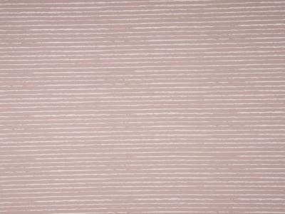 05m Jersey Unregelmäßige Streifen dustyrose weiß