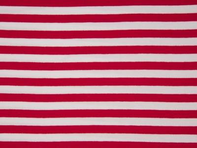 05m Jersey Ringel Streifen dunkelrot weiß