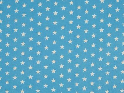 05m Jersey Kleine Sterne hellblau weiß