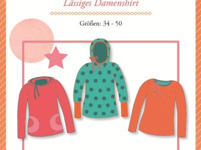 1Stk Lady Rose Damenshirt Papier Schnittmuster
