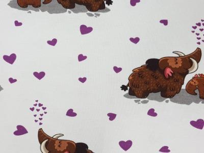 05m Jersey Mammut mit Baby Herzen