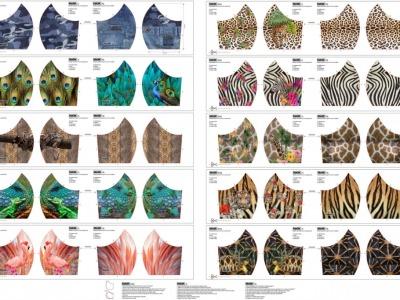 Panel Mund Nasen Masken Animal Print