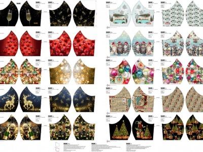 Panel Mund Nasen Masken mit Weihnachts-und