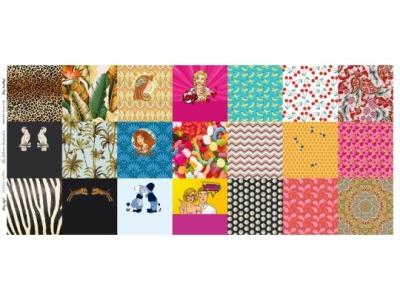 Panel Masken Damen bunt 20x20 für