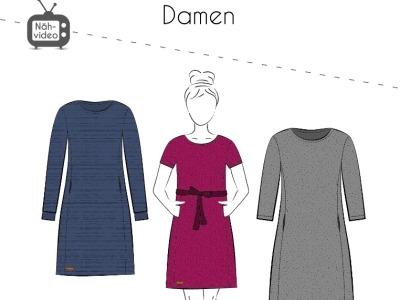 Papierschnittmuster Fadenkäfer Kleid Mila Damen Gr