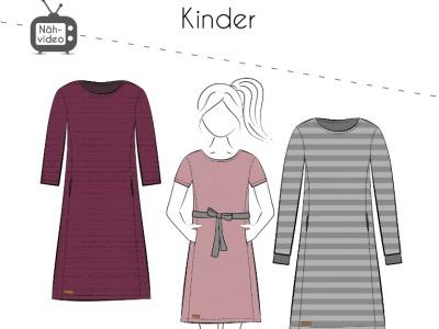 Papierschnittmuster Fadenkäfer Kleid Mila Kids Gr