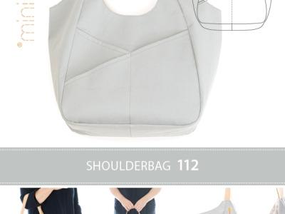 1 Schnittmuster Tasche Schultertasche Minikrea