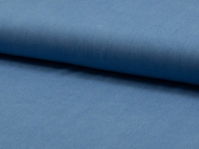 05m Viskose Chambray uni Jeans dünn