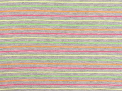 05m Jersey Neon Streifen grau bunt