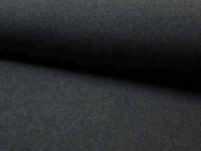 05m BW Fleece Organic meliert dunkelgrau