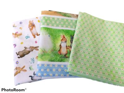 Stoffpaket Baumwolle Frühling 1 Sleeping Bunny