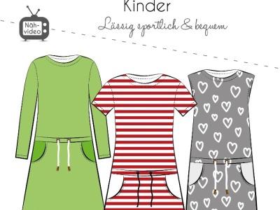 Papierschnittmuster Fadenkäfer Kleid Pia Kids Gr