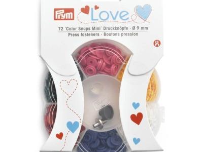 1Dose Prym Love Druckknöpfe Kunststoff 9mm