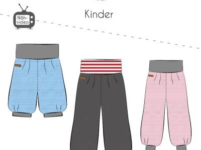 Papierschnittmuster Fadenkäfer Pumphose Kids Gr 50-164