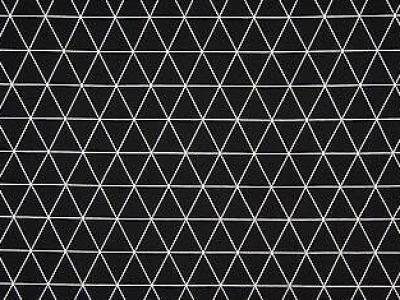 05m Jersey Rauten Dreiecke schwarz weiß