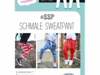 1Stk SSP Schmale Sweatpant Papier Schnittmuster